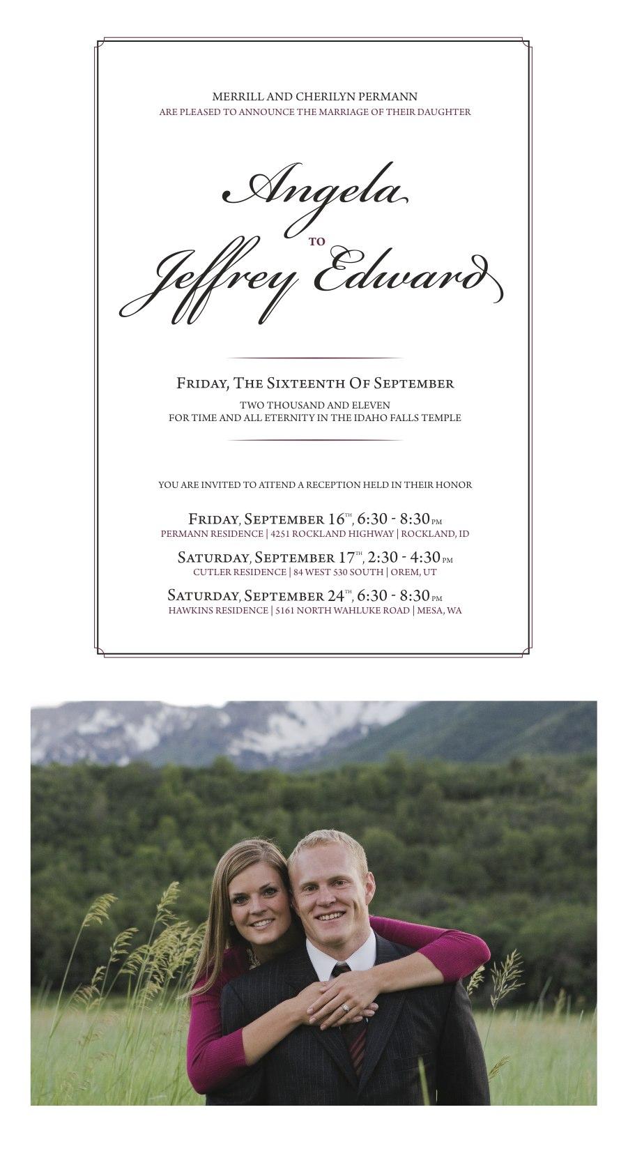 Wedding invitations provo wedding guide diy invitation monicamarmolfo Images